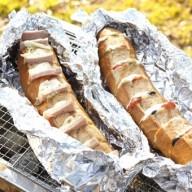 フランスパンのホットサンド